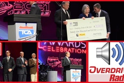 scenes from the 2021 TCA conference and overdrive radio's logo